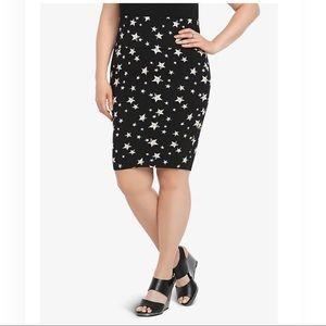 Foldover Stars Black Skirt 1 14 16